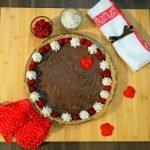 Autumn Vegan Chocolate Pie