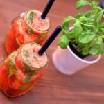Italian Basil and Strawberry Mojitos