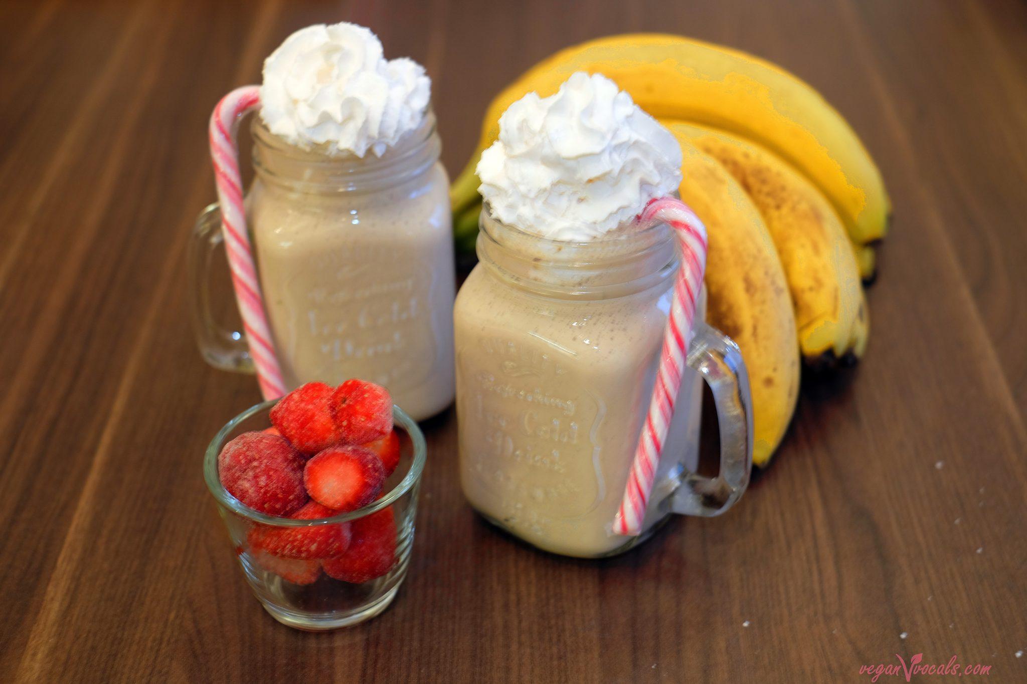 Strawberry and Basil Vegan Milkshake