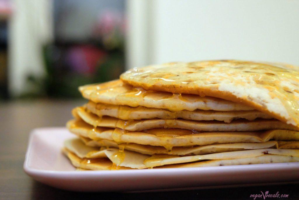 Vegan Oil-Free Pancakes With Meringue