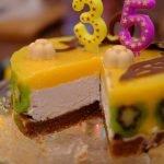 Vegan and Gluten-Free White Chocolate Mango Cake