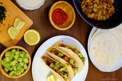 Vegan Mexican Tacos for Breakfast