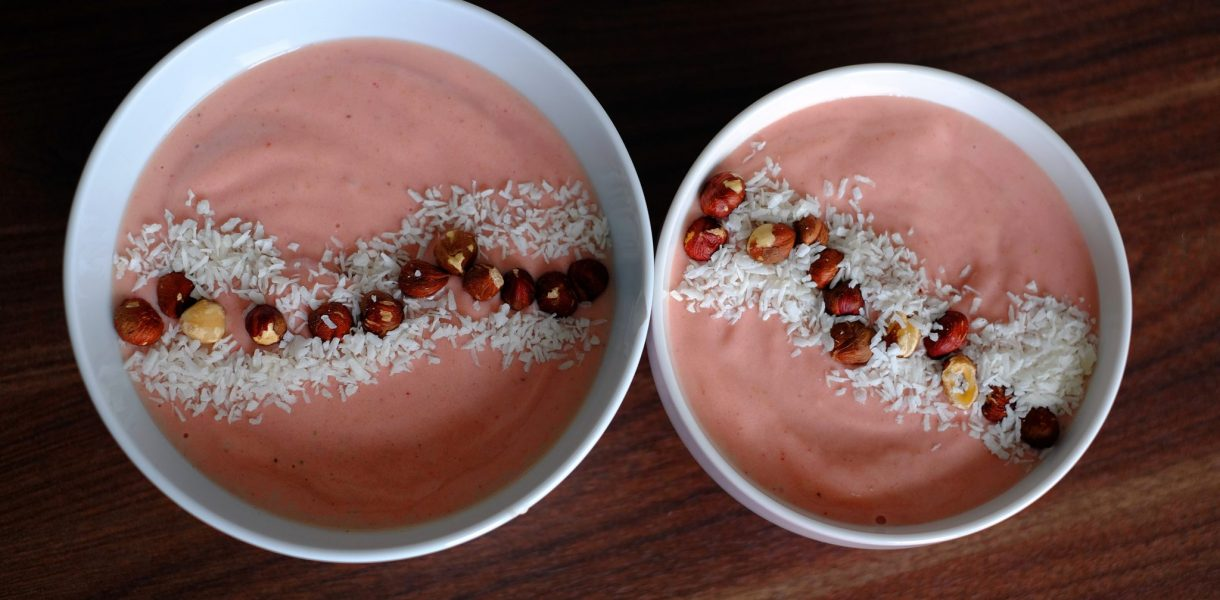 Strawberry Nice Cream - Vegan & Gluten-Free