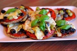 Mini Vegan Pizzas with Homemade Vegan Mozzarella
