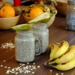 Overnight Chia Y Avena Pudding de Pera Y Banana Vegano