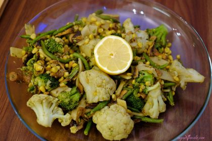 Salteado de Verduras sin Aceite 100% Hecho con Alimentos Integrales
