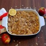 Crumble de Manzana Vegano Hecho con Alimentos Integrales