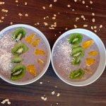 Súper Saludable Smoothie Bowl de Arándano Azul (Hecho Sólo con Alimentos Integrales)