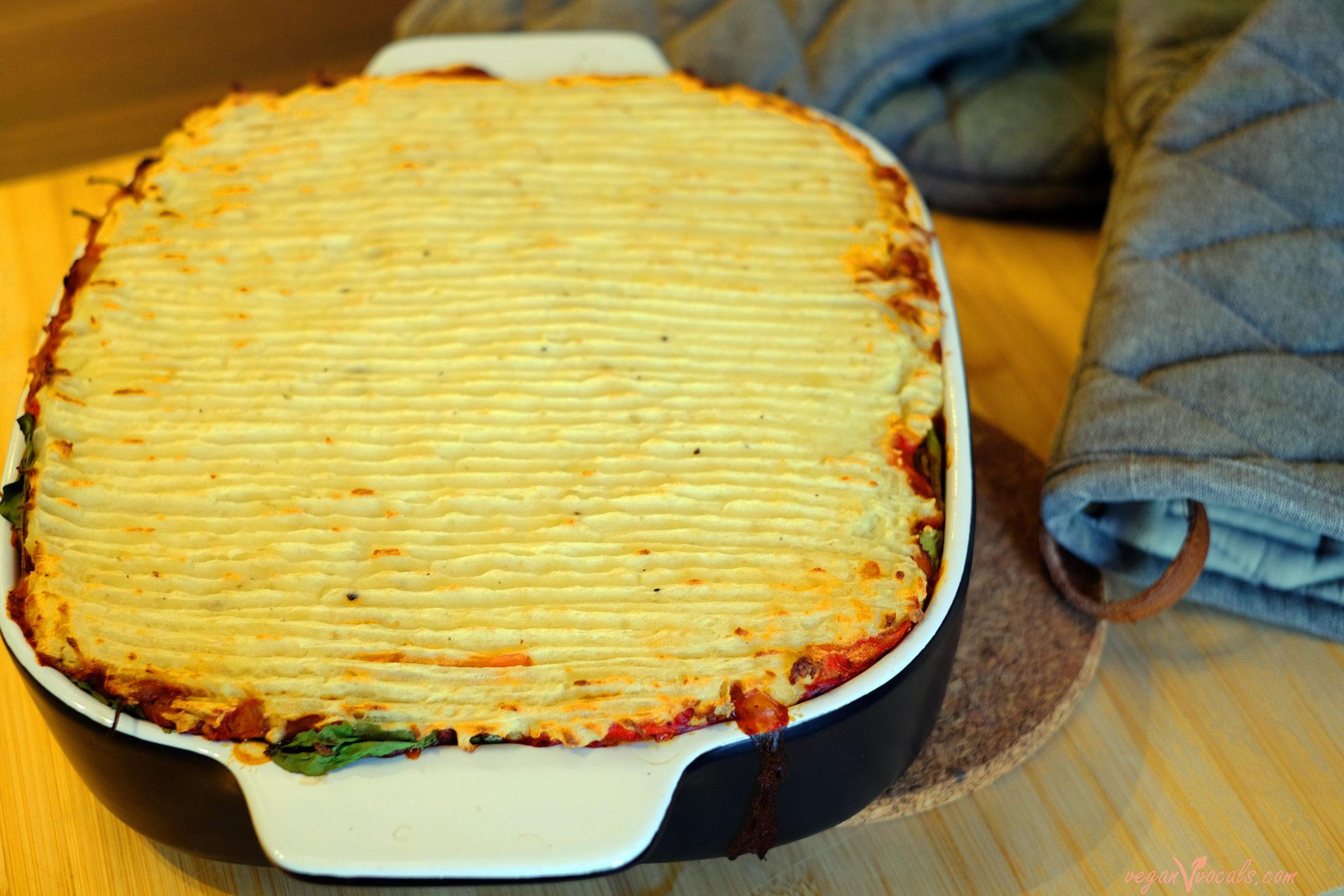 Low-Calorie Vegan Lasagna Meets Shepherd's Pie V2