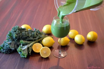 The Best Green Smoothie (Kale Lemonade)