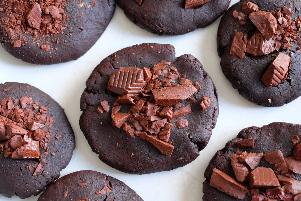So Healthy Chocolate Peanut Butter Vegan Cookies