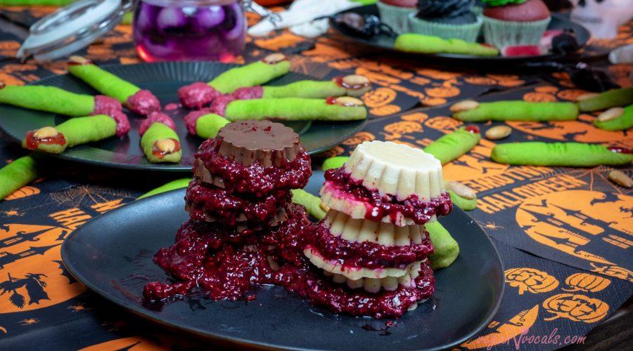 Halloween Vegan Bloody Chocolate Sandwiches (Dark & White)