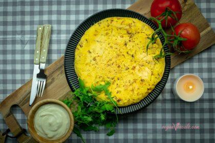 Tortilla Española de Patatas Vegana (Sin Huevos)