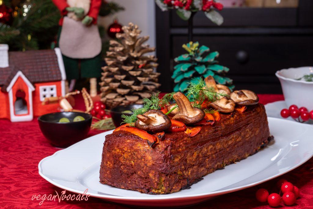 The Best Vegan Meatloaf with Mushroom Sauce
