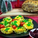 Crispy Vegan Cheesy Potato Stacks