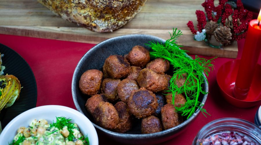 Vegan Swedish Meatballs Christmas Special