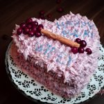 Vegan Winter Child Birthday Cake - Vegan Gingerbread & Lingonberry Cake Recipe