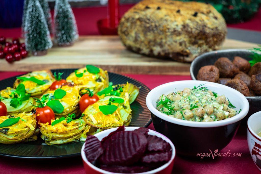 Vegan Crispy & Cheesy Potato Stacks