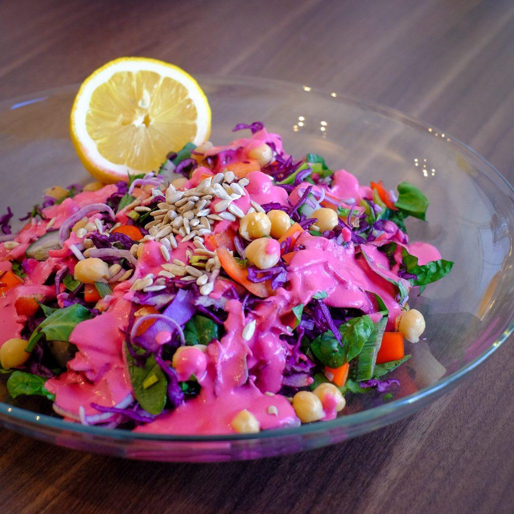 vegan purple salad
