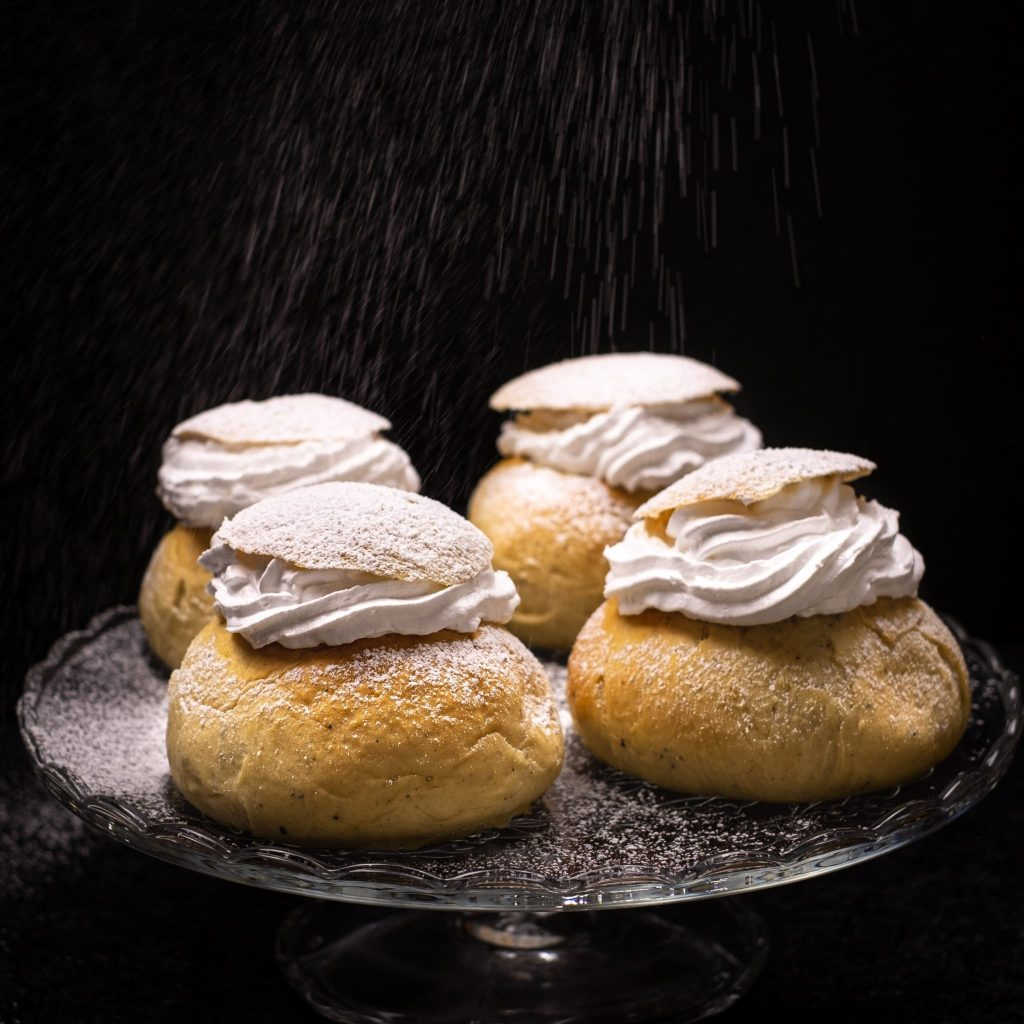 SEMLOR THE SWEDISH DELICACY filled with our Amazing Classic Vegan Whipped Cream - So Creamy
