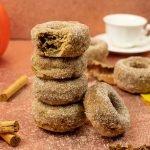 Vegan Pumpkin Spice Doughnuts