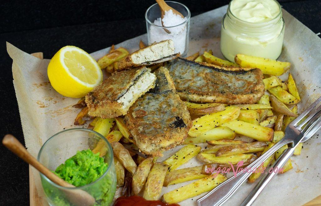 El Mejor Fish & Chips Vegano (Pescado Frito Vegano con Patatas) Y sin Gluten