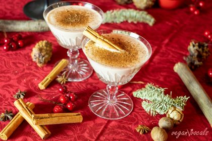 Nothing says Christmas like eggnog! And because we're vegans, here it is: our Vegan Whiskey Eggnog!