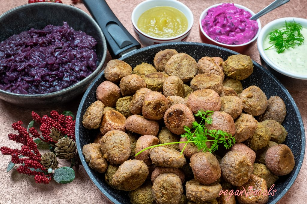 Albóndigas Suecas Veganas Especiales de Navidad
