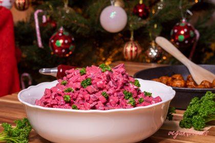 Vegan Swedish Beetroot Salad (Vegansk rödbetssallad)