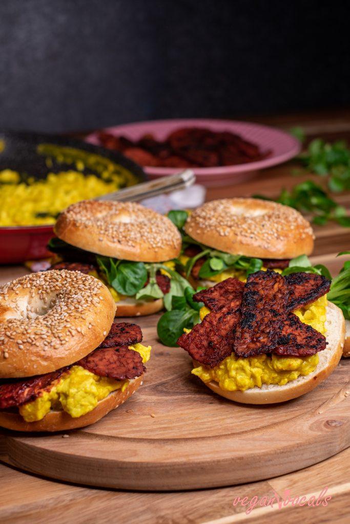 Bacon de Tempeh Vegano Y sin Gluten