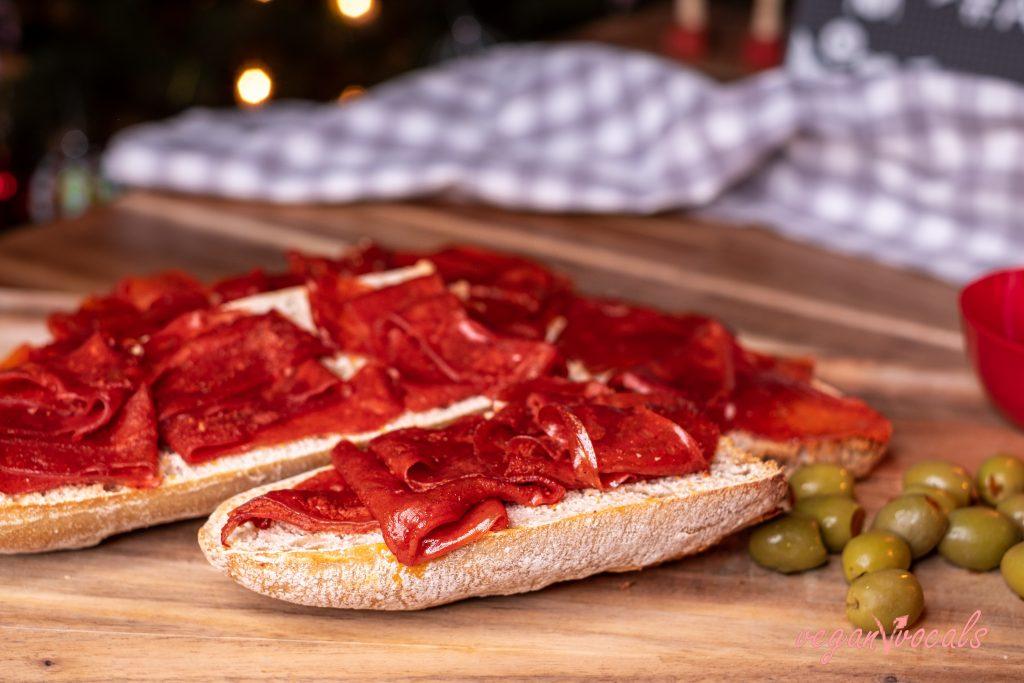 Vegan Serrano Cured Ham or Spanish Vegan Jamón Serrano