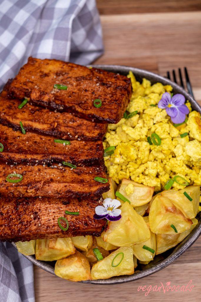 Bacon de Tofu Vegano, sin Gluten, Fácil Y Delicioso