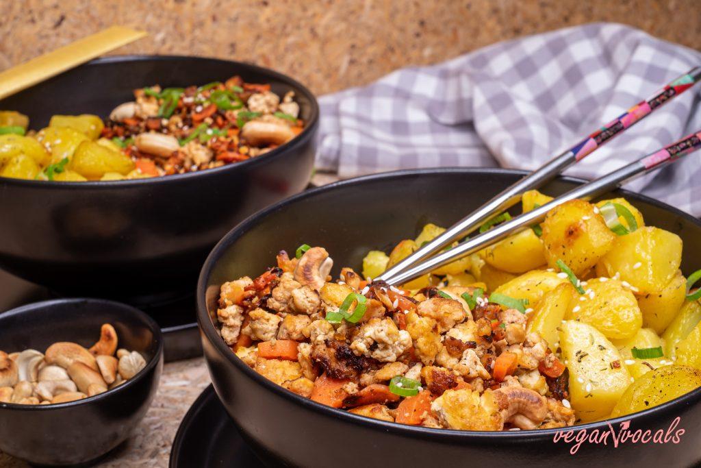 Vegan Asian Inspired Tofu Scramble