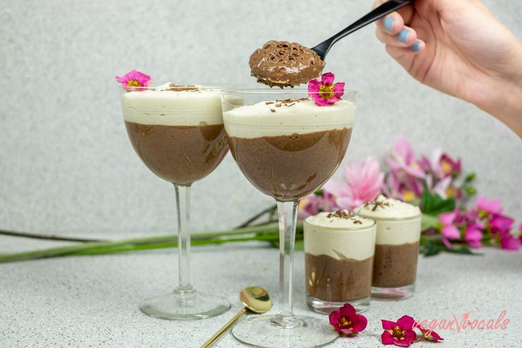 Mousse de Chocolate Y Vainilla Vegana Fácil