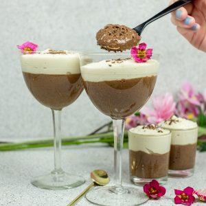 Easy Vegan Chocolate Vanilla Mousse