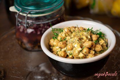 Vegan Senapssill (Vegan Herring in Mustard Sauce)