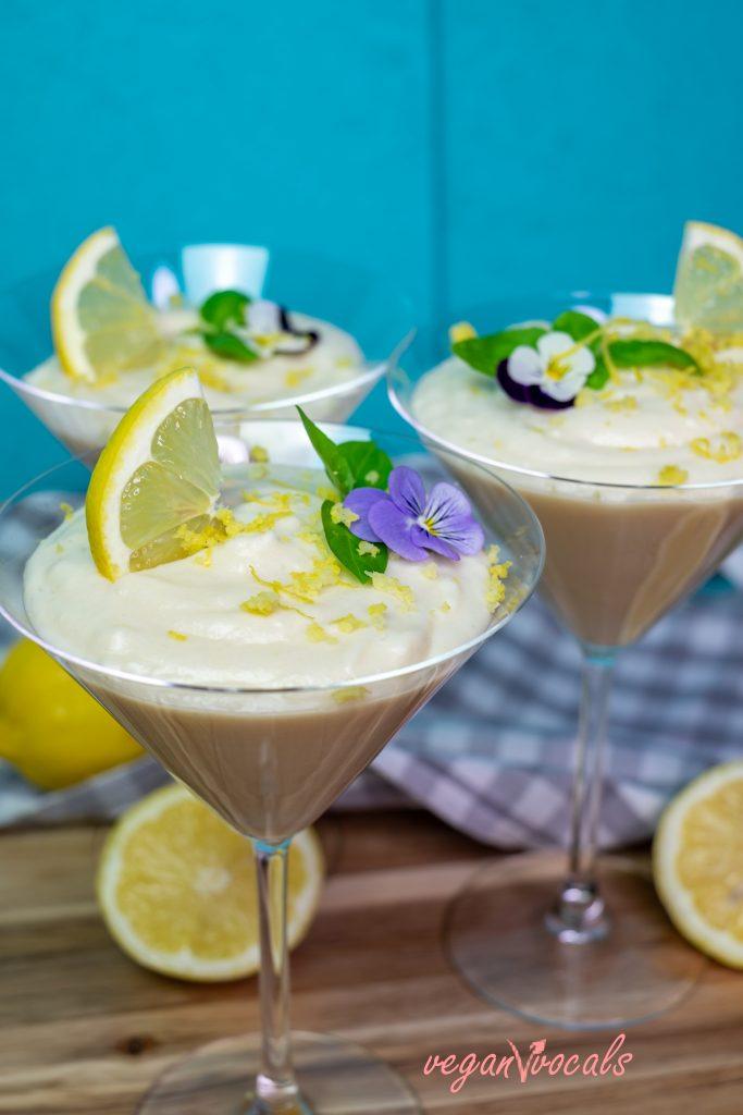 Fluffy Refreshing Vegan Lemon Mousse