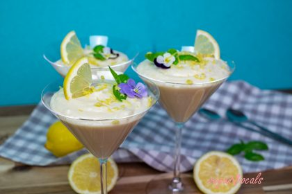 Mousse de Limón Vegana Esponjosa Y Refrescante