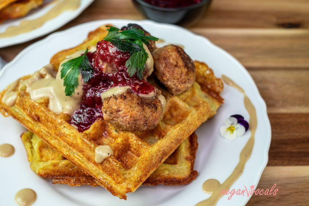 Crispy Delicious GF & Vegan Potato Waffles