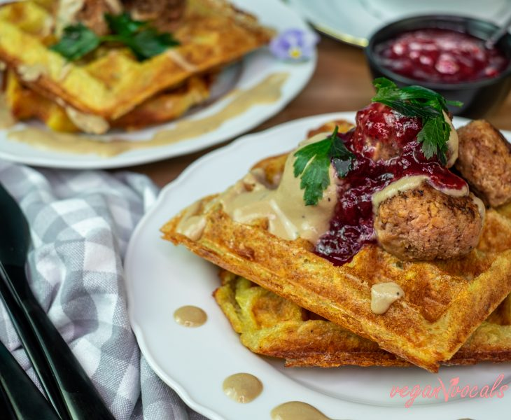 Crispy Delicious GF & Vegan Potato Waffles