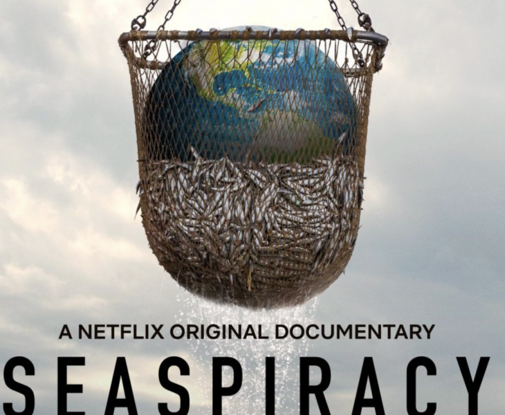 Seaspiracy is a 2021 documentary film about the environmental impact of fishing directed by and starring Ali Tabrizi, a British filmmaker.[1] The film examines various human impacts on marine life and advocates for ending fish consumption.