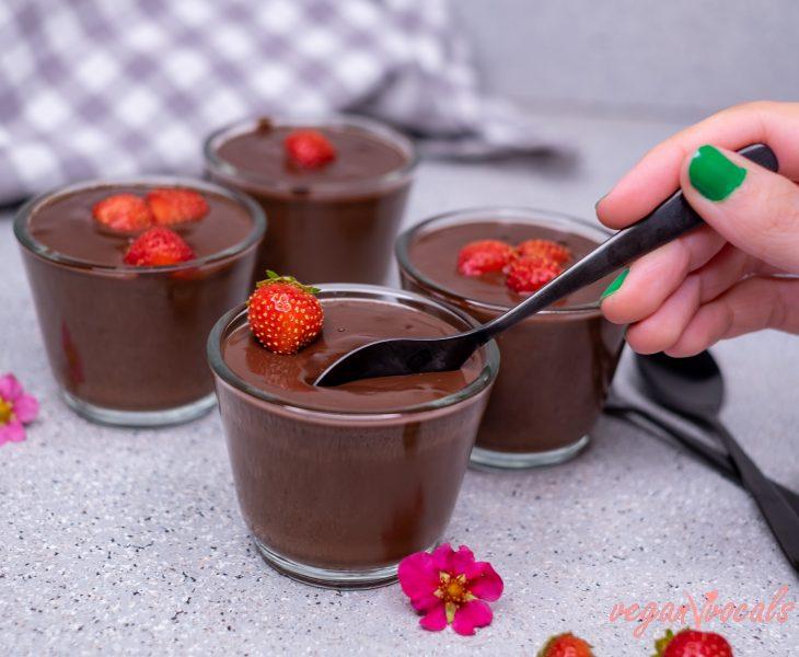 Exquisito Pudding de Chocolate Vegano Fácil