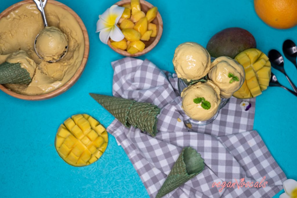 So Creamy Delicious Vegan Mango Ice Cream