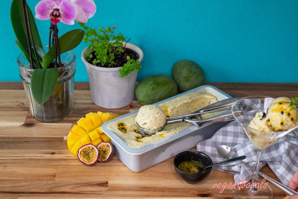 So Creamy Vegan Passion Fruit & Mango Ice Cream