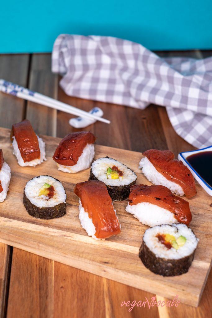 Very Tasty, Easy, Spicy Vegan Tuna Sushi